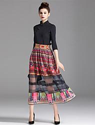 preiswerte -Damen A-Linie Röcke - Einfarbig, Druck