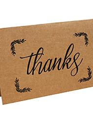Kraft Thank You Cards-10 Piece/Set------Thanks