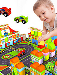 cheap -Building Blocks Toys Tower Famous buildings House Architecture ABS Wrought Iron Wood Children's Pieces