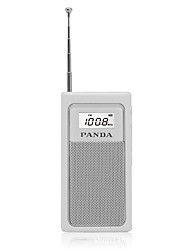 abordables -6200 FM AM Radio portable Lecteur MP3 Carte TFWorld ReceiverBlanc Noir Argent