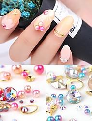 Pinpai 4 Color Nail Stickers Mermaid Pearl Drill Rivets Navy Shells Conch Alloy Mix Nail Jewelry Nail Art Tool Dappen Dishes Make Up