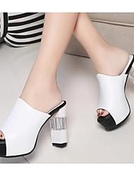 preiswerte -Damen Schuhe PU Sommer Pumps / Komfort Sandalen für Weiß