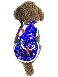 Недорогие -Собака Жилет Одежда для собак Дышащий На каждый день Новый год Вышивка Красный Синий Костюм Для домашних животных