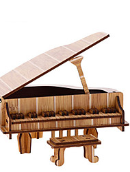 cheap -3D Puzzle Jigsaw Puzzle Wood Model Piano Violin Musical Instruments Simulation Wooden Natural Wood Kid's Unisex Gift