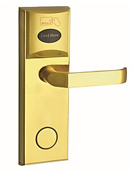 cheap -Stainless Steel Card Lock Smart Home Security System Hotel Apartment Composite Door Wooden Door (Unlocking Mode Card Mechanical key)