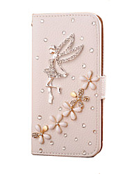 Handmade Diamond Angel PU Leather Full Body Case with Kickstand for Samsung Galaxy S3/S4/S5/S5 miniS6/S6 Edge