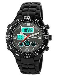 Недорогие -Муж. Модные часы Наручные часы Японский Кварцевый Календарь Защита от влаги С двумя часовыми поясами Хронометр Фосфоресцирующий сплав