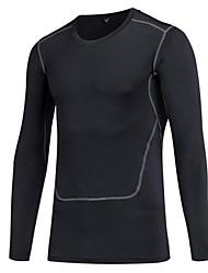 preiswerte -Herrn Funktionsunterhemd Langarm Atmungsaktivität Leicht Dehnbar T-shirt Sweatshirt Oberteile für Rennen Radsport Übung & Fitness