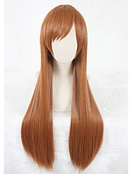 cheap -Long Straight The king's avatar Mucheng Su Wig Light Brown Synthetic Anime Cosplay Wigs CS-334A