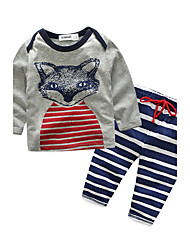 Baby Unisex Daily Animal Print Clothing Set