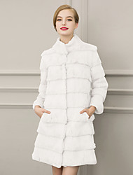 Women's Fashion Wrap Faux Fur Wedding Party/ Evening / Casual Long Sleeve Fur Coats/Jacket Pockets