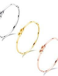 European and American vintage 8-word bracelet with simple ladies' stainless steel bracelet