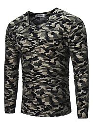 Tee-shirt Homme,camouflage Soirée Sports Sortie Décontracté / Quotidien simple Chic de Rue Actif Toutes les Saisons AutomneManches