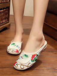 Women's Shoes Fabric Summer Comfort Sandals For Casual Black Beige Red