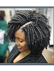 economico -Ricci Jheri Afro Bouncy Curl Riccio Treccine a boccoli Capelli ricci stile giamaicano Treccia colorata schiarita Sintetico 1pc / pack