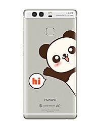 cheap -Case For Huawei P9 / Huawei P9 Lite / Huawei P8 Transparent / Pattern Back Cover Word / Phrase / Cartoon Soft TPU for P10 Plus / P10 Lite / P10 / Huawei P9 Plus / Mate 9 Pro