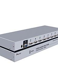 DTECH VGA Splitter VGA to VGA Splitter with Audio Plug Female - Female One Input Eight Output