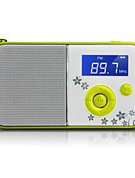 DS-111 Radio portatile Lettore MP3 Scheda TFWorld ReceiverBianco Verde Blu