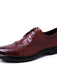 Men's Shoes Real Leather Cowhide Spring Fall Comfort Light Soles Formal Shoes Driving Shoes Oxfords Lace-up For Wedding Casual Party &