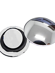 ZIQIAO 1 Pcs Car Rearview Mirror Small Round Mirror Wide-angle Adjustable Visual Convex Surface with Rotating Base