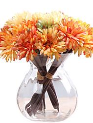 cheap -Artificial Flowers 1 Branch Retro Plants Tabletop Flower