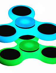 2PCS Luminous Blue&Green Fidget Spinner Finger Hand Top Spinners Glow in Dark Light Tri-Spinner EDC ADD ADHD Anti Anxiety Stress Reliever Toys