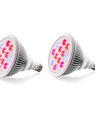 cheap -2pcs 980 lm E27 Growing Light Bulbs 12 leds High Power LED Blue Red AC 85-265V