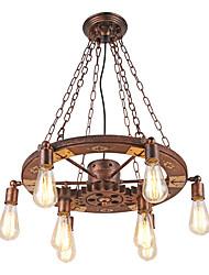 Недорогие -Винтажные подвесные светильники поворотный деревянный механизм креативный промышленный светильник американский стиль для гостиной ресторан
