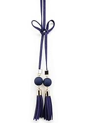Ladies Fashion Casual Wild Simple Tassel Thin Belt