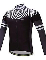 cheap -Long Sleeve Cycling Jersey Stripes / Ripples Bike Top, Lightweight Quick Dry Breathability, Spring Fall, Polyester Spandex