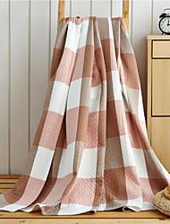 Недорогие -Фланель Решетка Смешанная хлопковая ткань одеяла