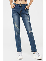 cheap -Women's Low Rise Micro-elastic Skinny Jeans Pants,Sexy Solid Cotton Polyester Spandex All Seasons