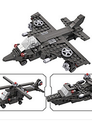 cheap -Building Blocks Helicopter Toys Plane / Aircraft Fighter Helicopter Plastics Boys' Boys Pieces
