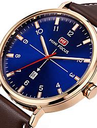 preiswerte -Herrn Einzigartige kreative Uhr Armbanduhr Modeuhr Sportuhr Armbanduhren für den Alltag Quartz Kalender Echtes Leder Band Charme Luxus