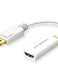 baratos -ZJX-160 2 DisplayPort HDMI 1.4 Macho-Fêmea 0.25m (0.8Ft)