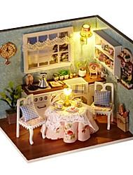 abordables -A Faire Soi-Même Bâtiment Célèbre Maison En bois Pièces Enfant Fille Jouet Cadeau