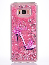 cheap -Case For Samsung Galaxy S8 Plus S8 Case Cover High Heels Pattern Flowing Liquid Glitter Soft TPU Materia Phone Case S7 Edge S7