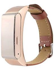 Per donna Smart watch Orologio alla moda Digitale Pelle Banda Nero Bianco Marrone