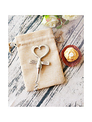 cheap -Chrome Heart Bottle Opener in Burlap Bag Wedding Anniversary Favors Beter Gifts® Life Style