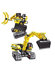 DIY KIT Building Blocks Educational Toy Robot Radio Control Excavator Toys Machine Robot Forklift Excavating Machinery Pieces Kid's
