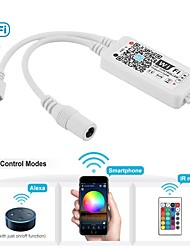 cheap -WiFi Wireless LED Smart Controller Working with Android and IOS System Mobile Phone Free App for RGB LED Strips Comes With One 24 Keys Remote Control