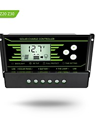 PWM 30A  Solar Charge Controller 12V 24V Auto with Back-light LCD Display Dual USB 5V Solar Regulator Charger  Z30