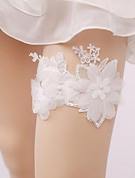 baratos -Renda Casamento Wedding Garter Com Pérolas Sintéticas / Apliques Ligas