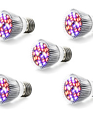 cheap -5pcs 5W 800lm E14 GU10 E27 Growing Light Bulb 28 LED Beads SMD 5730 Warm White White Blue Red 85-265V