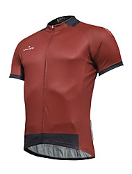 cheap -ILPALADINO Men's Short Sleeves Cycling Jersey - Red Bike Jersey, Quick Dry, Spring Summer, Polyester Coolmax