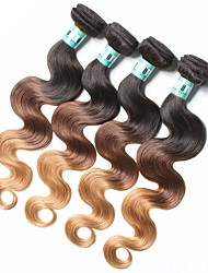 cheap -Indian Hair Body Wave Human Hair Weaves 4 Pieces Ombre Hair Weaves