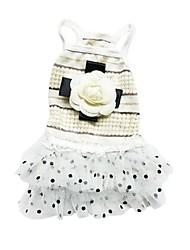 preiswerte -Hund Kleider Hundekleidung Lässig/Alltäglich Prinzessin Beige Rosa Kostüm Für Haustiere