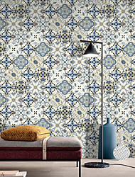 cheap -Hexagon Ceramic Tile Plaster Wall Stickers The Living Room Bedroom Self-Adhesive Waterproof PVC Film