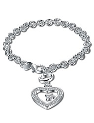 Femme Chaînes & Bracelets Charmes pour Bracelets Zircon cubique Basique Bijoux initial Bijoux de Luxe Simple Style Mode Vintage Bohême