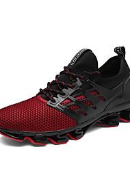 abordables -Homme Chaussures Similicuir Tulle Printemps Eté Bottes à la Mode Chaussures d'Athlétisme Basketball pour Décontracté Noir Rouge Vert clair